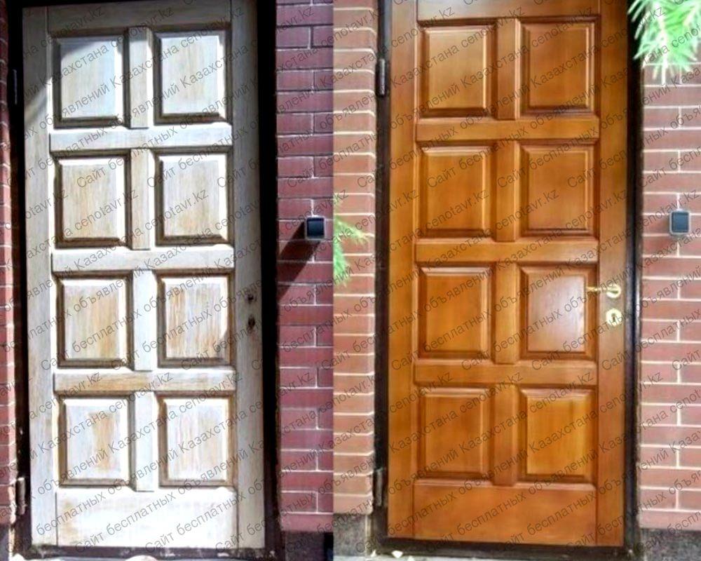 свое идеи по окрашиванию входных деревянных дверей фото отличный